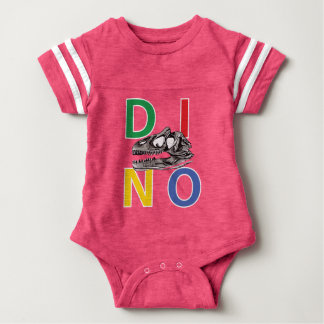 DINO - Pink Baby Football Bodysuit