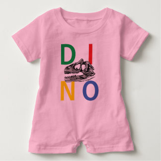 DINO - Pink Baby Romper