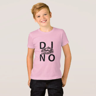 DINO - Pink Kids' American Apparel Fine Jersey T-S T-Shirt