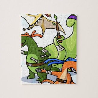 dino power rawr we will not be found jigsaw puzzle