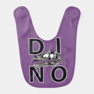 DINO - Purple Baby Bib