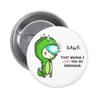 Dino RAwr Badges Avec Agrafe