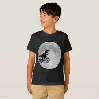 Dino Rider In A Bike T-Shirt