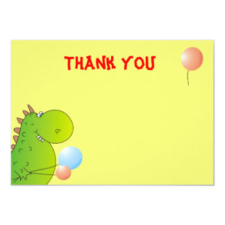 Dino Thank You Card, Birthday Party Card