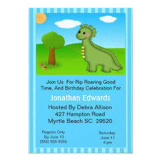 Dino  Theme  Birthday Invitation