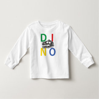 DINO - White Toddler Long Sleeve T-Shirt