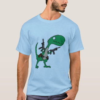 Dino with Guns T-Shirt