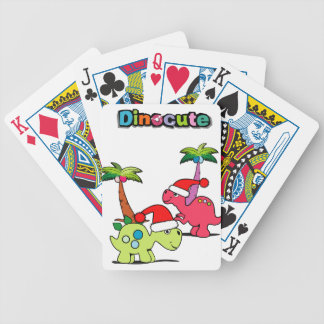 dinocute bicycle playing cards
