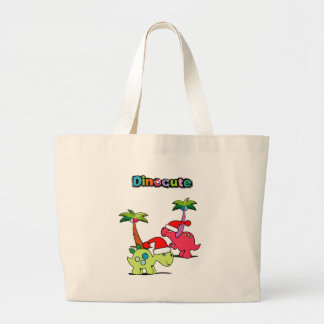 dinocute large tote bag