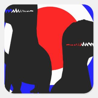 Dinolino Underground Square Stickers