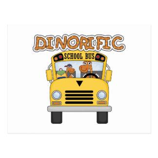 Dinorific School Bus T-shirts and Gifts Postcard