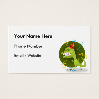 Dino's Rock - Dinosaur Birthday Party Business Card