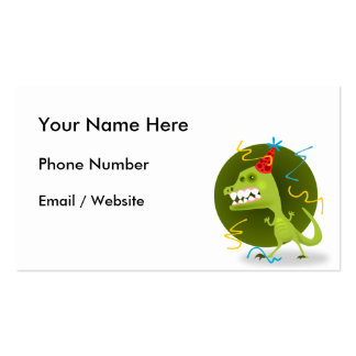 Dino's Rock - Dinosaur Birthday Party Pack Of Standard Business Cards