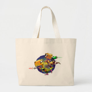 Dinos with Rayguns! Large Tote Bag