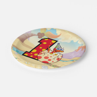 Dinosaur 1st Birthday Party 7 Inch Paper Plate