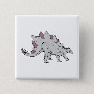 Dinosaur 2 Inch Square Button