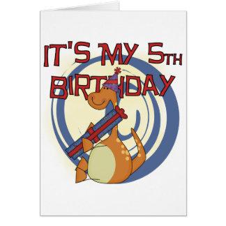 Dinosaur 5th Birthday Tshirts and Gifts Card