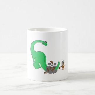 Dinosaur And Caveman Mug