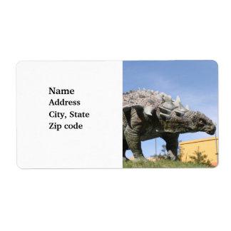 Dinosaur - Ankylosaurus Dinosaur in Sucre Bolivia Custom Shipping Labels