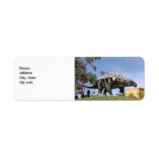Dinosaur - Ankylosaurus Dinosaur in Sucre Bolivia Custom Return Address Label