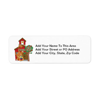 Dinosaur at School t-shirts and Gifts Return Address Label