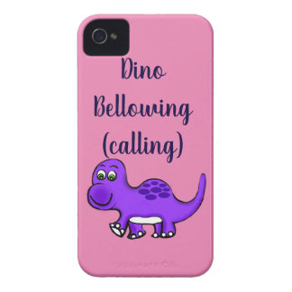 Dinosaur Baby Bellow Out iPhone 4 Case