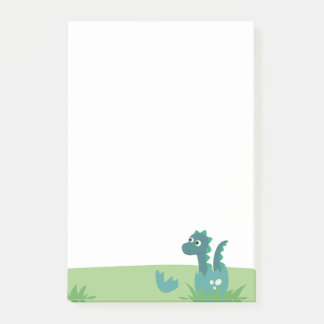 Dinosaur baby in eggshell post it notepad