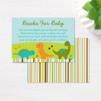 Dinosaur Baby Shower Book Request Cards