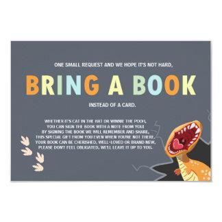 Dinosaur Baby Shower Bring a book card Dino Boy