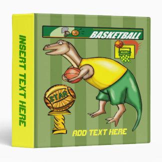 Dinosaur Basketball Avery Binder