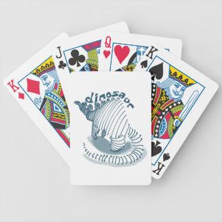 dinosaur bicycle playing cards