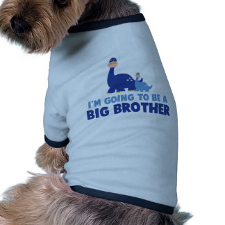 dinosaur big brother to be NEW blue Doggie T Shirt