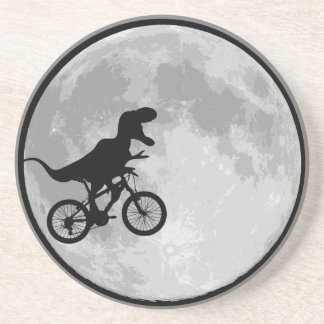 Dinosaur Bike & Moon Drink Coaster