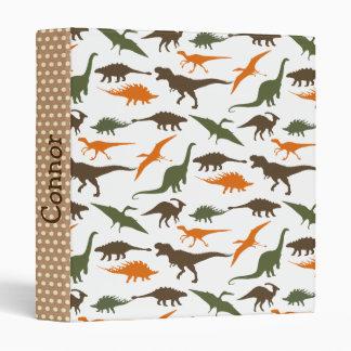 Dinosaur Binder, Personalized Vinyl Binder