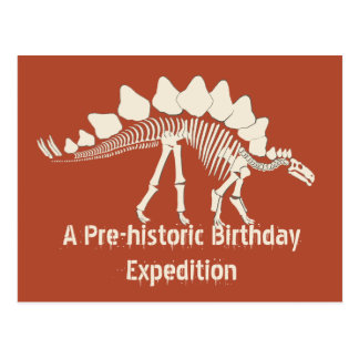 Dinosaur Birthday Adventure Postcard