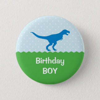 Dinosaur Birthday Button