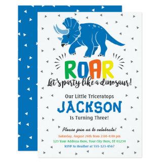 Dinosaur Birthday Invitation with Envelopes