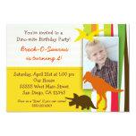 "Dinosaur Birthday Invitation with Photo 5"" X 7"" Invitation Card"