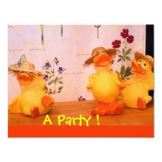 "Dinosaur Birthday Party 4.25"" X 5.5"" Invitation Card"