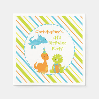 Dinosaur Birthday Party Dino Personalized Napkin