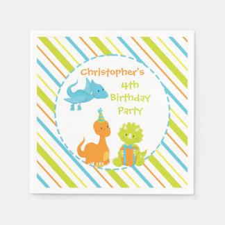 Dinosaur Birthday Party Dino Personalized Napkin Disposable Napkins