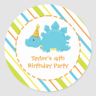 Dinosaur Birthday Party Dino Personalized Sticker