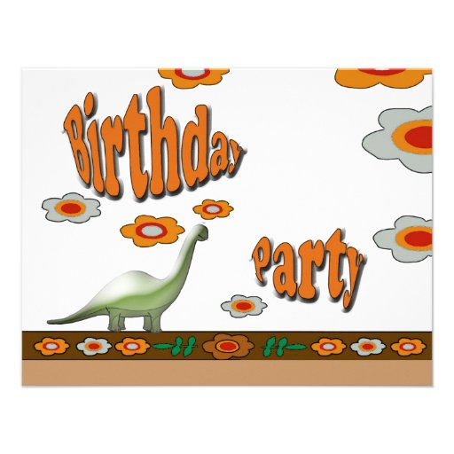 Dinosaur Birthday Party Personalized Announcements