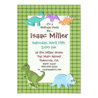 dinosaur birthday party invitation dino invite