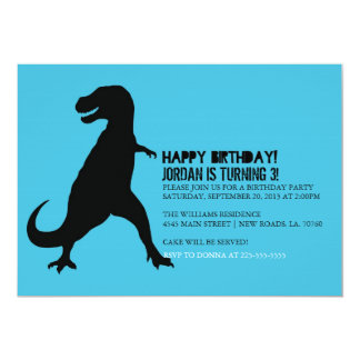 Dinosaur Birthday Party | T-Rex Card