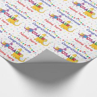 Dinosaur Birthday wrapping paper