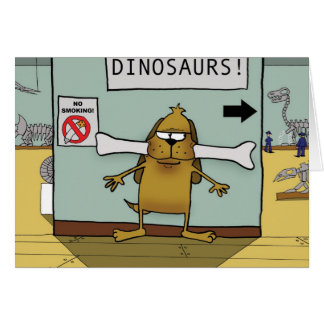 Dinosaur Bone Dog Greeting Card