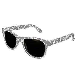 Dinosaur Bones (Black) Sunglasses