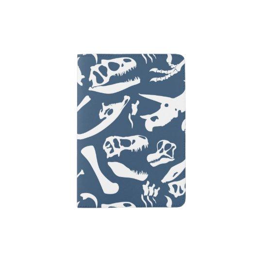 Dinosaur Bones (Blue) Passport Holder
