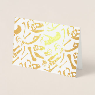 Dinosaur Bones (Gold) Foil Card